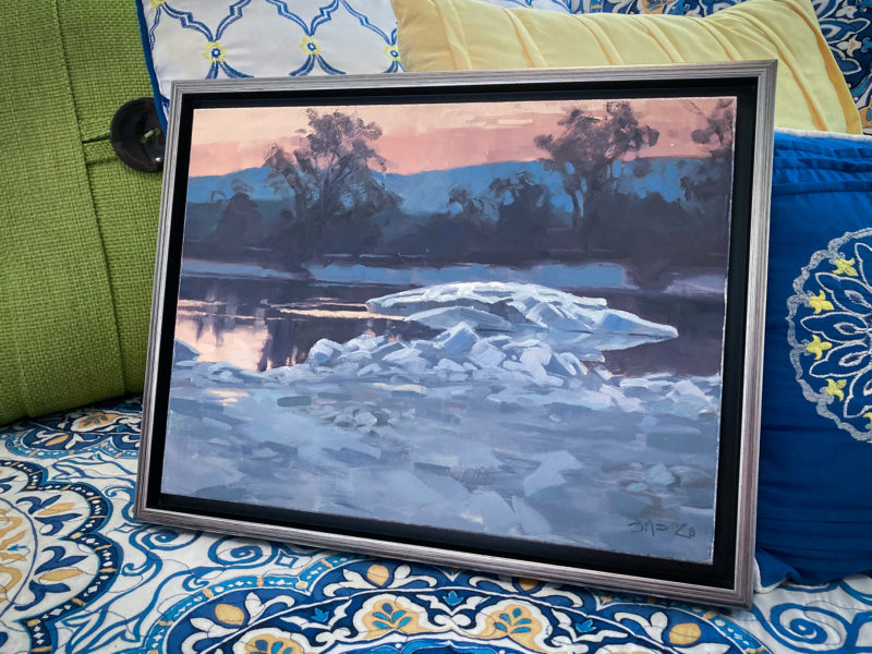 Ice Floe on the Connecticut River - Framed