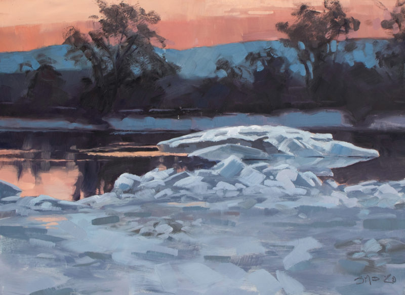 Ice Floe on the Connecticut River