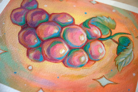 """Cosmic Grapes"" by Ejiwa 'Edge' Ebenebe - Table Shot"