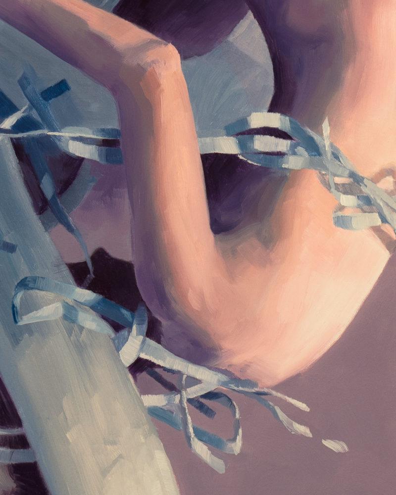 "Hilary Clarcq - ""Onrushing Nameless Event"" - Oil Painting"