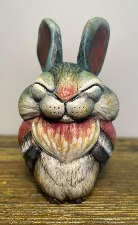 Blue Bun of Happiness by Carisa Swenson, front view