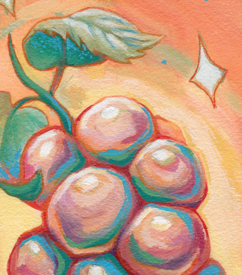 """Cosmic Grapes"" by Ejiwa 'Edge' Ebenebe - Detail Crop"