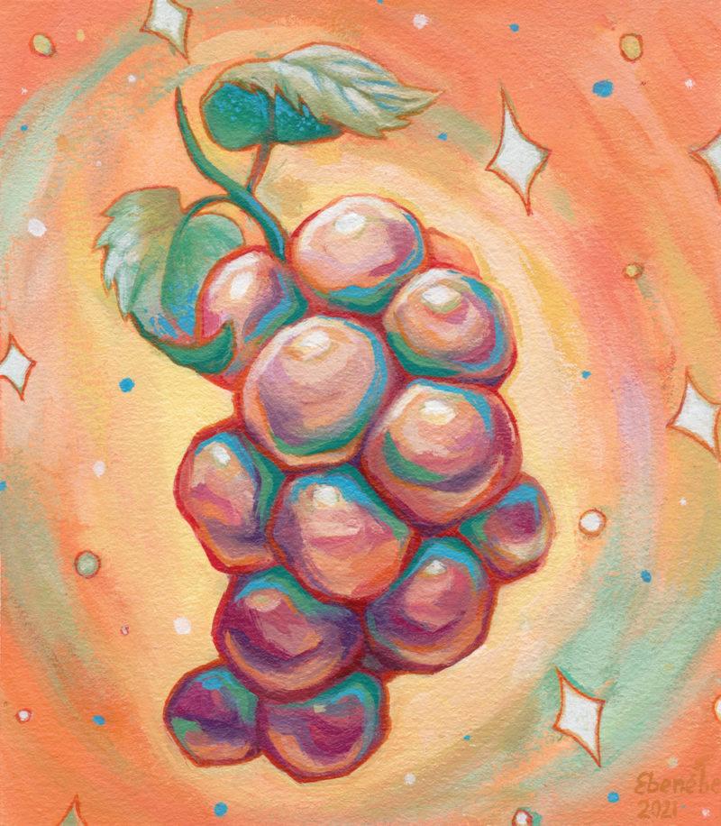 """Cosmic Grapes"" by Ejiwa 'Edge' Ebenebe - Front"