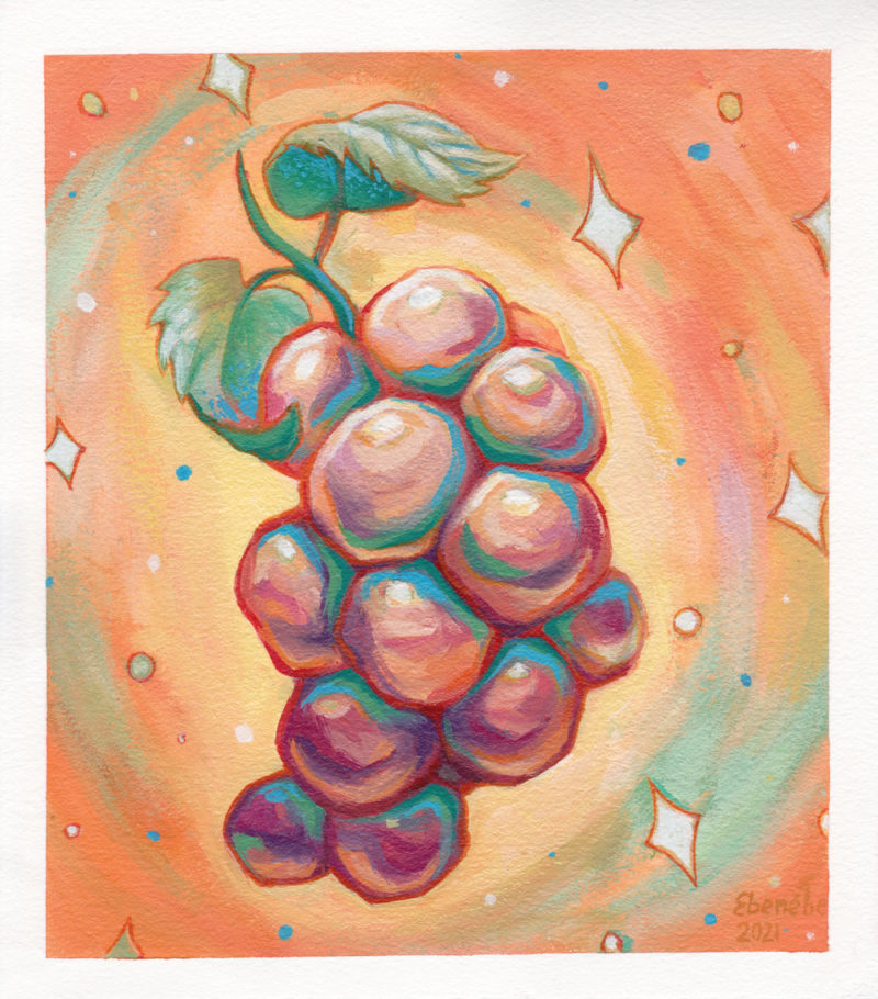 """""""Cosmic Grapes"""" by Ejiwa 'Edge' Ebenebe - Front With Border"""